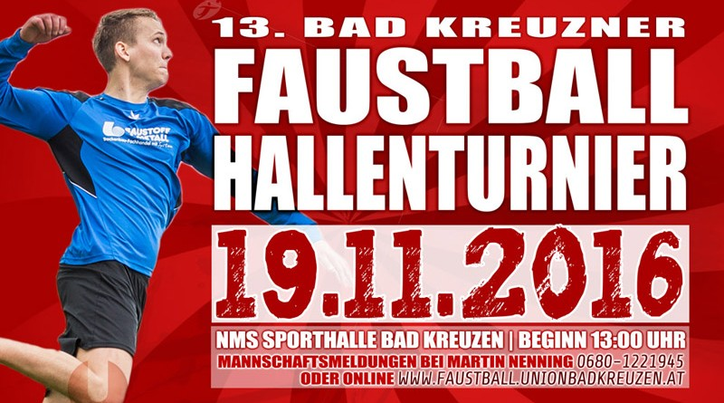 Faustball Hallenturnier am 19.11.2016