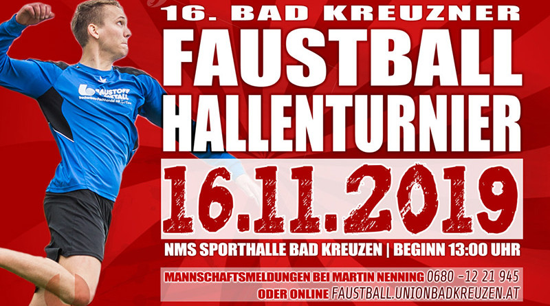 16. Bad Kreuzner Hallenturnier am 16.11.2019